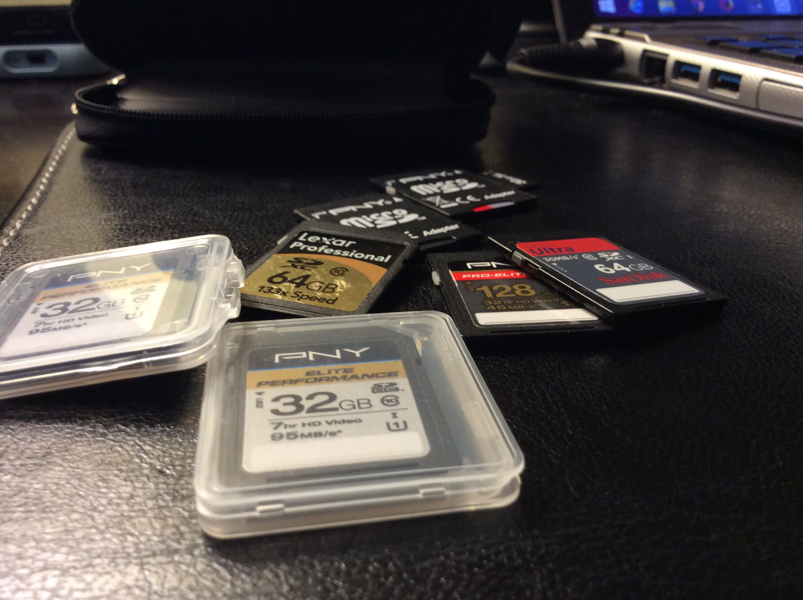 Photography Gear Prep – Memory Cards WIP