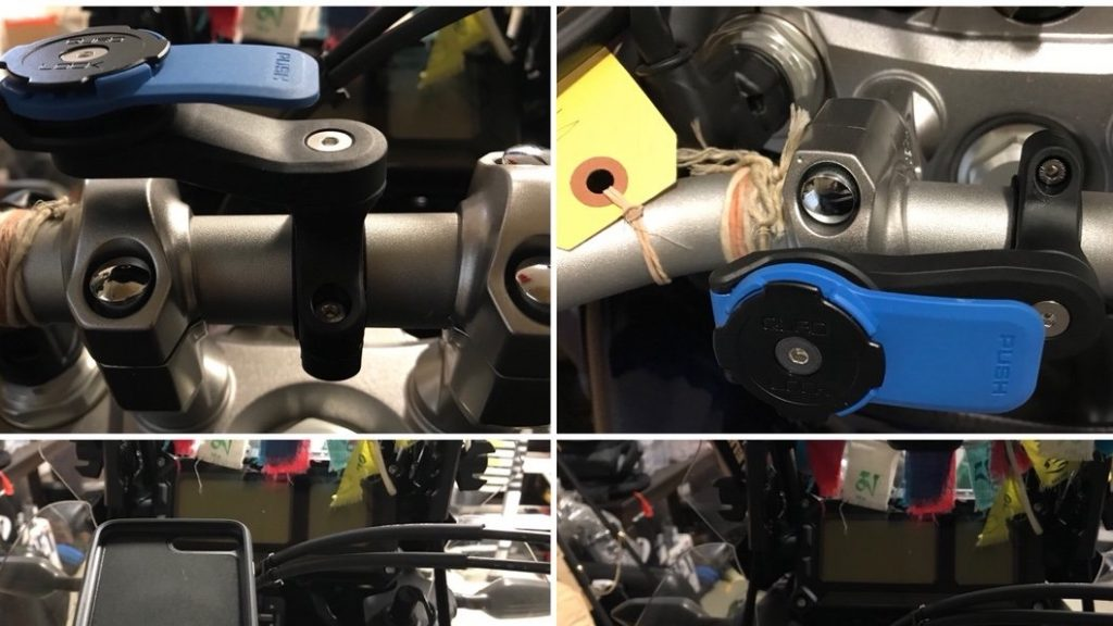 QuadLock | Handlebar mount for phone installed on Yamaha Super Tenere | #WIDT